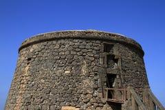 Toston tower castle in El Cotillo. Fuerteventura Royalty Free Stock Photos