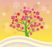 Tot bloei komende boom Stock Afbeeldingen