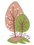 Tot bloei komende kers en abrikoos royalty-vrije stock afbeelding
