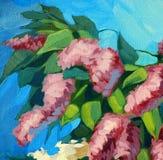 Tot bloei komende sering, illustratie, het schilderen Royalty-vrije Stock Foto's