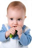 Tot and cucumber stock photo