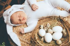 Tot with eggs royalty free stock photo