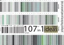 Tot honderd Universeel verschillend naadloos patroneneind stock illustratie