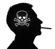 Tot rauchend Stockfotografie