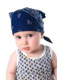 Tot in triangular kerchief Stock Photography