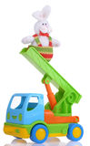 Tot truck with easter rabbit Royalty Free Stock Image
