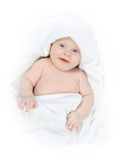 Tot under towel Royalty Free Stock Image