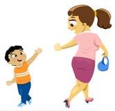 Tot ziens Mum Vector Illustratie
