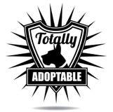 Totaal adoptable het pictogramschild van het huisdierenkenteken Stock Afbeeldingen