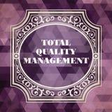 Totaal Kwaliteitsbewakingsconcept Uitstekend ontwerp royalty-vrije stock afbeelding
