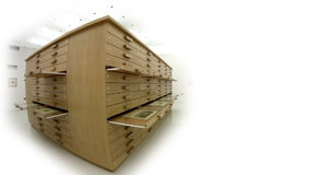 Totaal van een doos van laden met binnen grafiek stock videobeelden