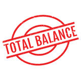 Total Balance rubber stamp Royalty Free Stock Photography