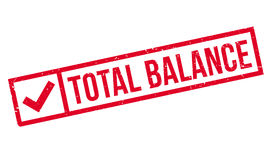 Total Balance rubber stamp Royalty Free Stock Images