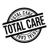 Total Care rubber stamp. Grunge design with dust scratches. Effects can be easily removed for a clean, crisp look. Color is easily changed Royalty Free Stock Image