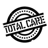 Total Care rubber stamp. Grunge design with dust scratches. Effects can be easily removed for a clean, crisp look. Color is easily changed Royalty Free Stock Images
