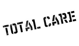 Total Care rubber stamp. Grunge design with dust scratches. Effects can be easily removed for a clean, crisp look. Color is easily changed Stock Image