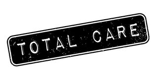 Total Care rubber stamp. Grunge design with dust scratches. Effects can be easily removed for a clean, crisp look. Color is easily changed Royalty Free Stock Photography