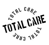 Total Care rubber stamp. Grunge design with dust scratches. Effects can be easily removed for a clean, crisp look. Color is easily changed Royalty Free Stock Photo