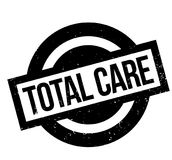 Total Care rubber stamp. Grunge design with dust scratches. Effects can be easily removed for a clean, crisp look. Color is easily changed Stock Images