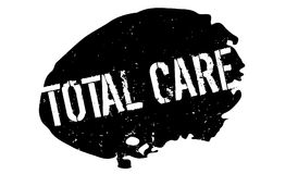 Total Care rubber stamp. Grunge design with dust scratches. Effects can be easily removed for a clean, crisp look. Color is easily changed stock illustration