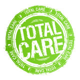 Total care stamp. Total care green rubber stamp Stock Photography