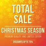 Total christmas sale ad designed in a modern flat style Royalty Free Stock Photos