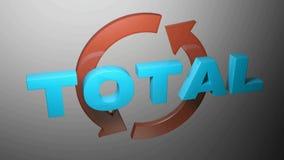 TOTAL con las flechas giratorias - ejemplo de la representación 3D stock de ilustración