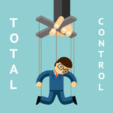 Total control. Businessman puppet Royalty Free Stock Photography