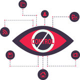 Total Control Spy surveillance technology Stock Images