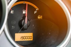 The total distance traveled over 190,000 km. car Royalty Free Stock Images