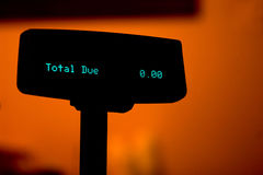 Total due $0 Stock Image