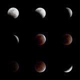 Total eclipse of the moon Royalty Free Stock Photo