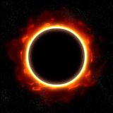 Total eclipse in space Royalty Free Stock Image