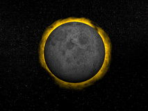 Total eclipse of the sun - 3D render Stock Photography