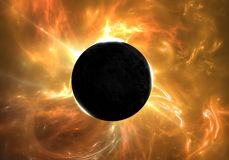 Total eclipse of the Sun Stock Images
