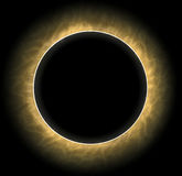 Total eclipse of the sun and moon Stock Photography