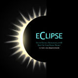 Total eclipse of the sun. Vector Editable Background. Total eclipse of the sun. Eps10 vector illustration