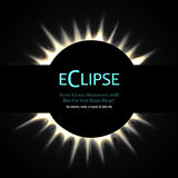 Total eclipse of the sun. Vector Editable Background. Total eclipse of the sun. Eps10 royalty free illustration