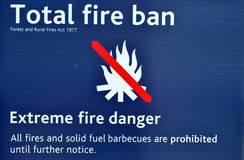 Total fire ban Royalty Free Stock Photos