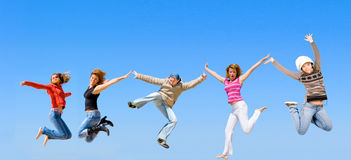 Total jumping Royalty Free Stock Photos