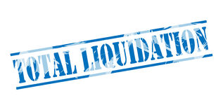 Total liquidation stamp Royalty Free Stock Image