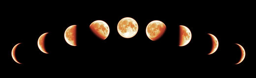 Total Lunar Eclipse Stock Images