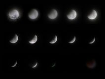 Total Lunar Eclipse. 16 June 2011: longest total lunar eclipse in 11 years. From full moon to red moon Stock Photos
