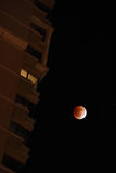 Total lunar eclipse at 2011.12.11 Stock Photos