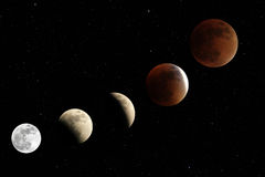 Total lunar eclipse 2015 Stock Image