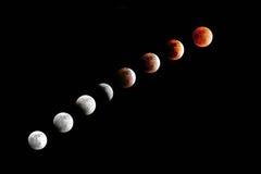 Total Lunar förmörkelse Arkivfoton