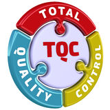 Total quality control. The check mark in the form of a puzzle Stock Images