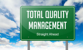 Total Quality Management on Green Highway Royalty Free Stock Image