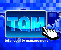 Total Quality Management Means World Wide Web And Administration. Total Quality Management Representing Net Administration And Satisfaction Royalty Free Stock Photography