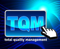 Total Quality Management Represents World Wide Web And Approval Royalty Free Stock Images